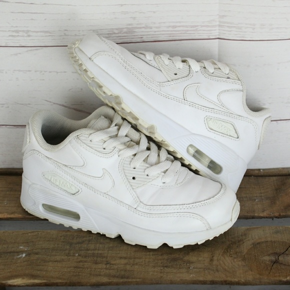 Nike Air Max 90 Leather Triple White Baby 1y